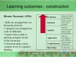 learning outcomes construction