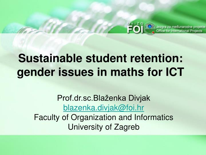 sustainable student retention gender issues in maths for ict n.