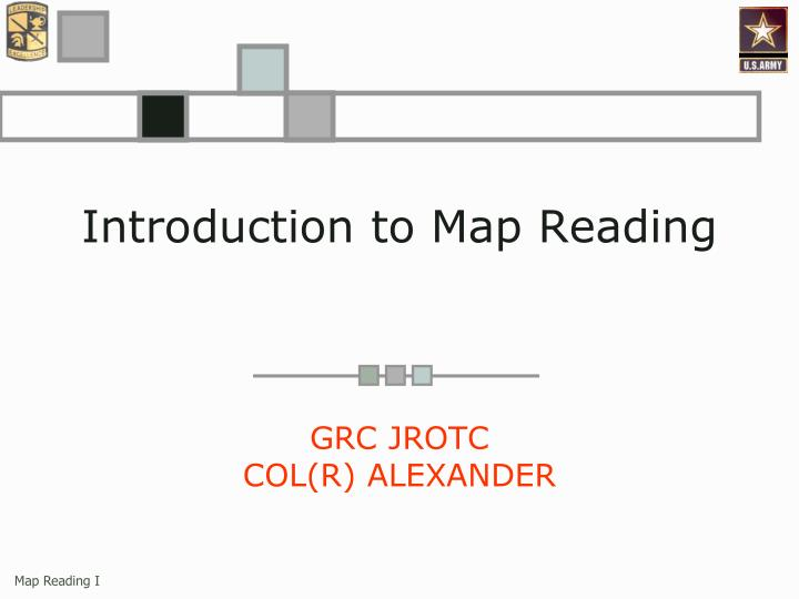 introduction to map reading n.