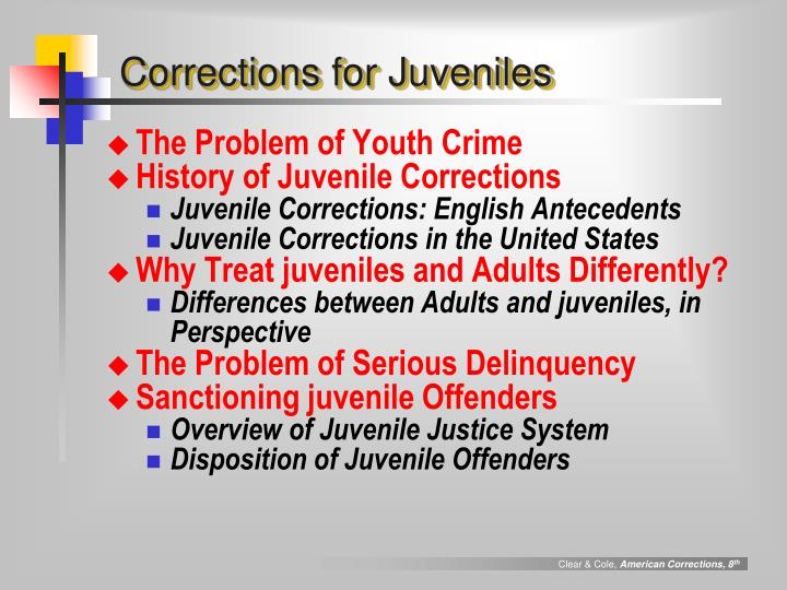 differences between adult and juvenile systems History of criminal justice system: differences between juvenile and adult systems criminal justice systems, cja302, module iv – case assignment dr gregory herbert.