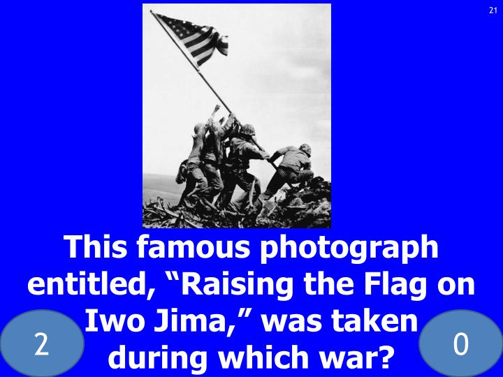This famous photograph entitled,
