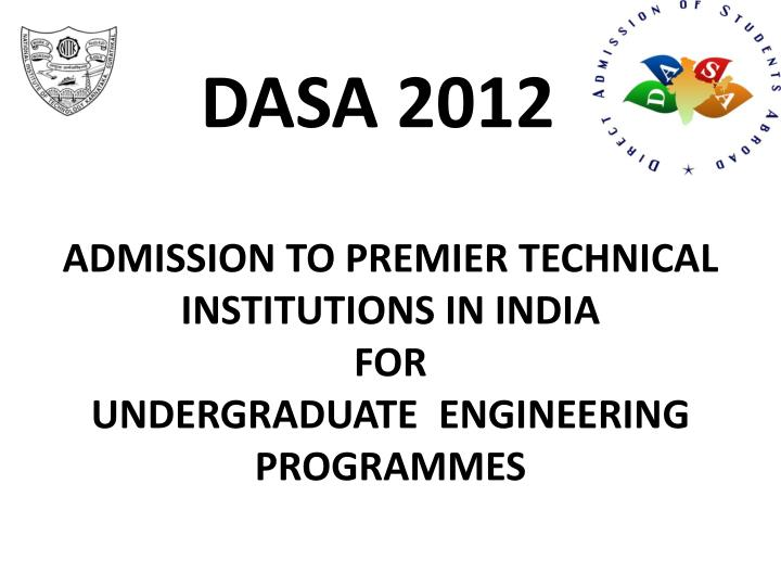admission to premier technical institutions in india for undergraduate engineering programmes n.