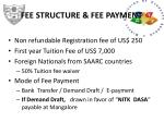 fee structure fee payment