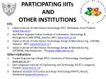 participating iiits and other institutions