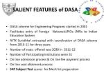 salient features of dasa 2011