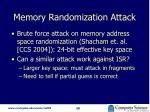 memory randomization attack