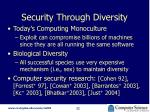 security through diversity1