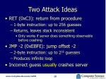 two attack ideas