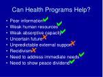 can health programs help