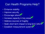 can health programs help1