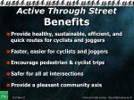active through street benefits