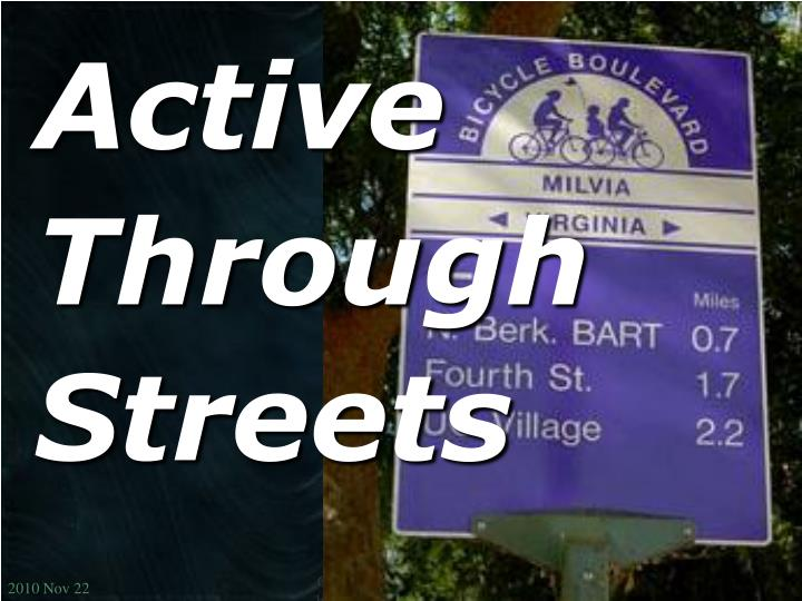 active through streets n.