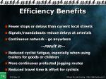 efficiency benefits