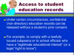 access to student education records