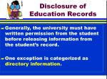 disclosure of education records