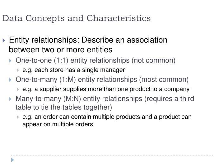 Data Concepts and Characteristics