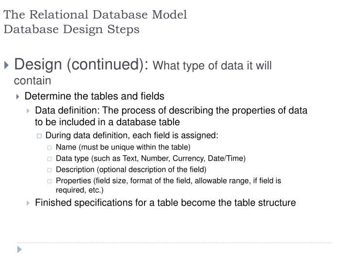 The Relational Database
