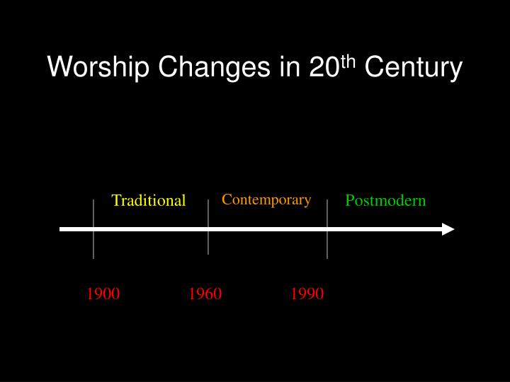 Worship changes in 20 th century