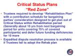 critical status plans red zone2