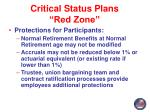 critical status plans red zone6