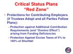 critical status plans red zone7