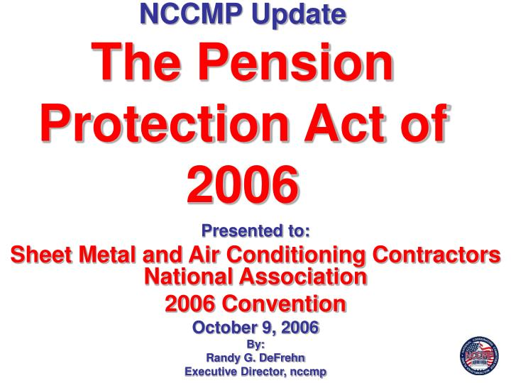 nccmp update the pension protection act of 2006 n.