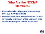 who are the nccmp members