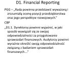 d1 financial reporting