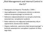 risk management and internal control in the eu