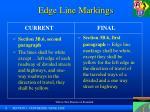 edge line markings