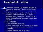 esquemas xml facetas