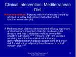 clinical intervention mediterranean diet