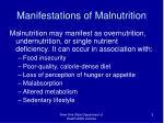 manifestations of malnutrition