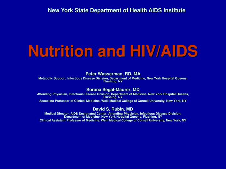 nutrition and hiv aids n.