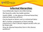 informal hierarchies
