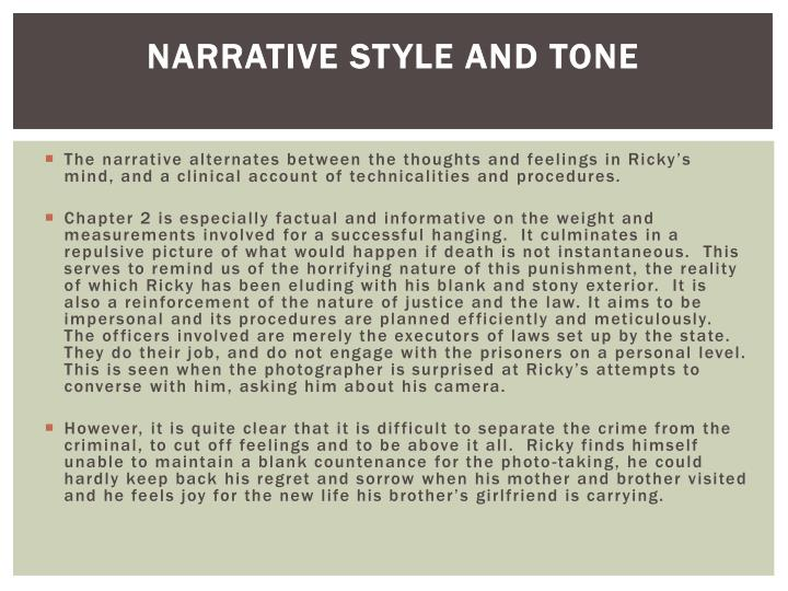 Narrative style and tone