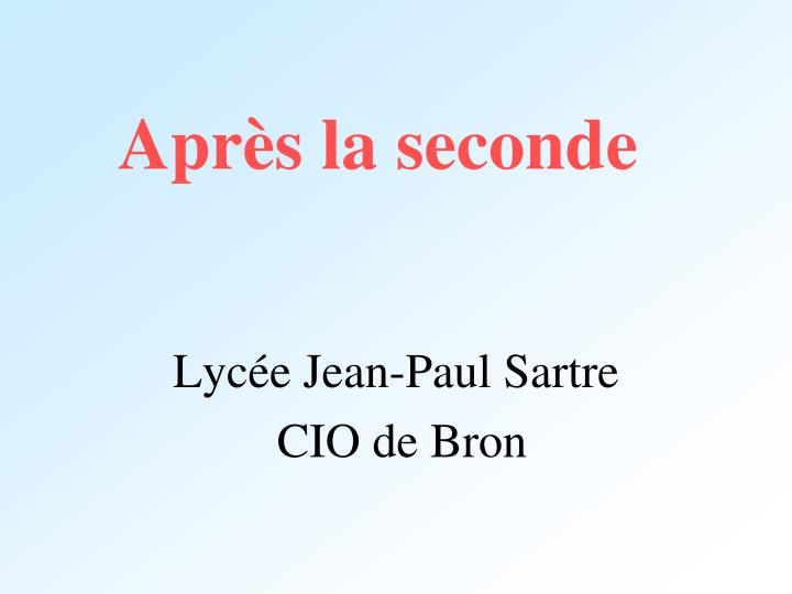 apr s la seconde n.