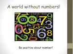 a world without numbers