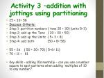activity 3 addition with jottings using partitioning