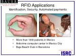rfid applications identification security automated payments