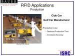 rfid applications production