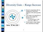 diversity gain range increase