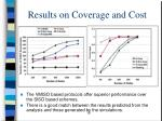 results on coverage and cost
