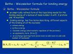 bethe weizs cker formula for binding energy