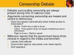 censorship debate