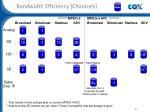 bandwidth efficiency channels