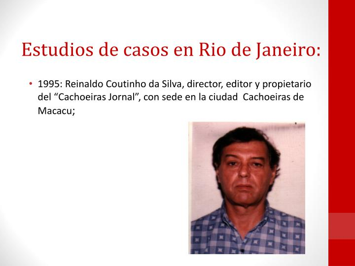 Estudios de casos en Rio de Janeiro: