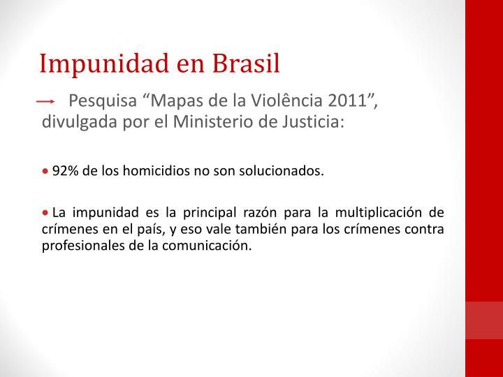 Impunidad en Brasil