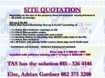 site quotation