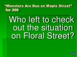 monsters are due on maple street for 300
